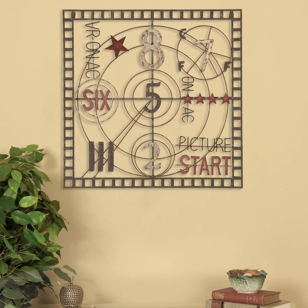 Oil-Rubbed Bronze Old Time Projection Metal Work Wall Decor-1215 ...