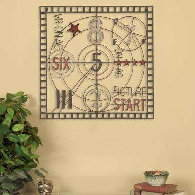 Oil-Rubbed Bronze Old Time Projection Metal Work Wall Decor