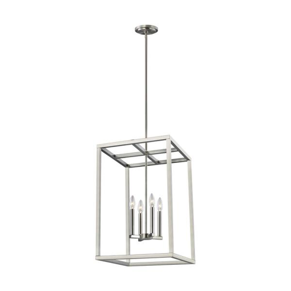 Moffet Street 4-Light Brushed Nickel Hall-Foyer Pendant