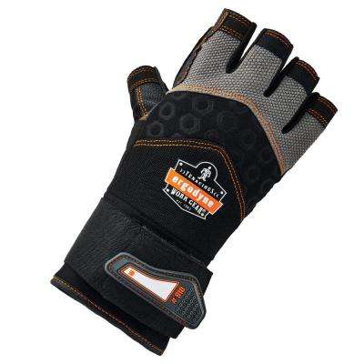ProFlex Small Half-Finger Impact and Wrist Support Work Gloves