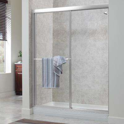 Tides 44 in. to 48 in. x 70 in. H Framed Sliding Shower Door in Silver and Clear Glass