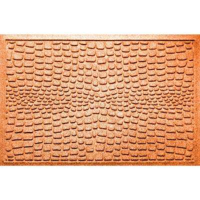 Alligator Orange 24 in x 36 in Polypropylene Door Mat