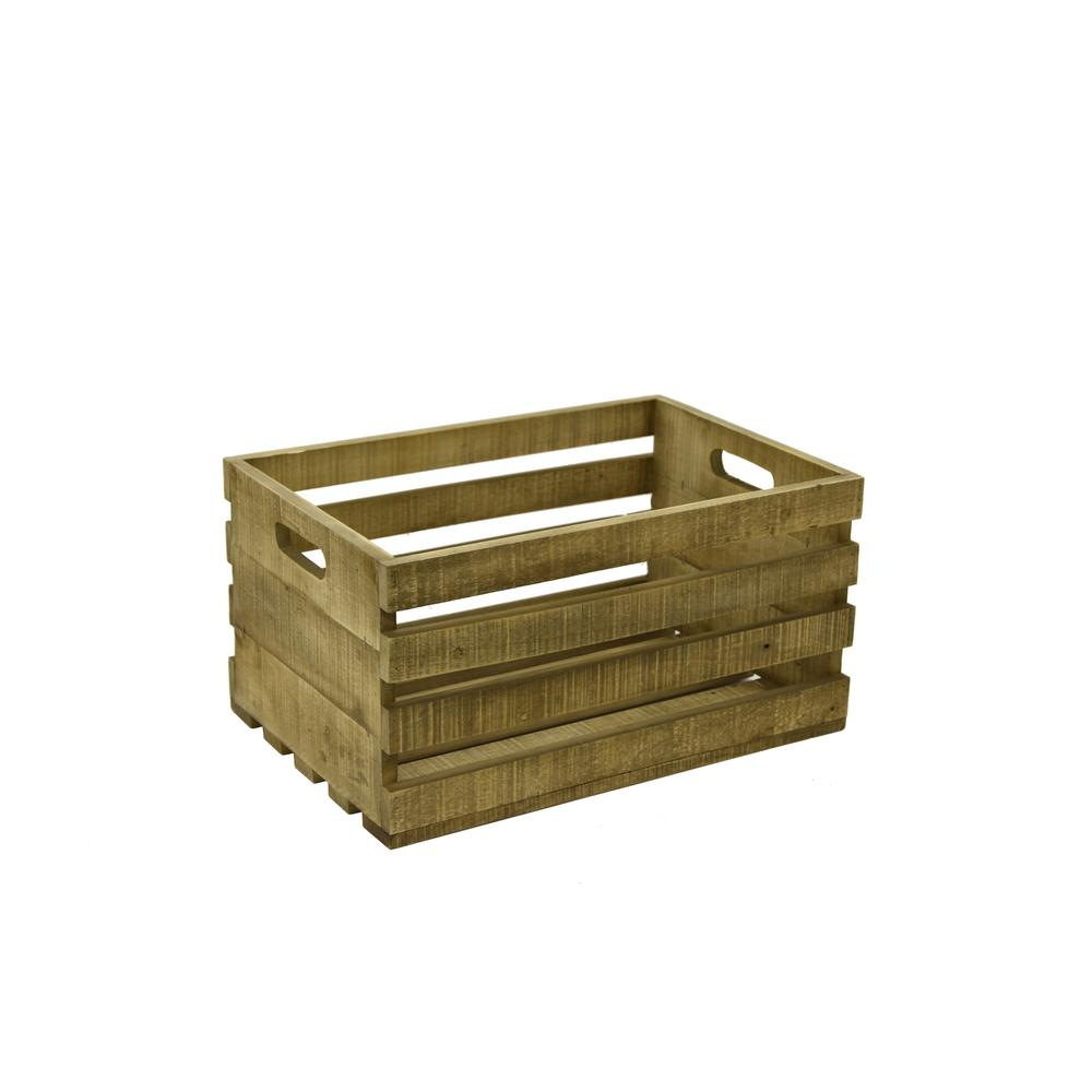 THREE HANDS Wood Record Storage-42892 - The Home Depot