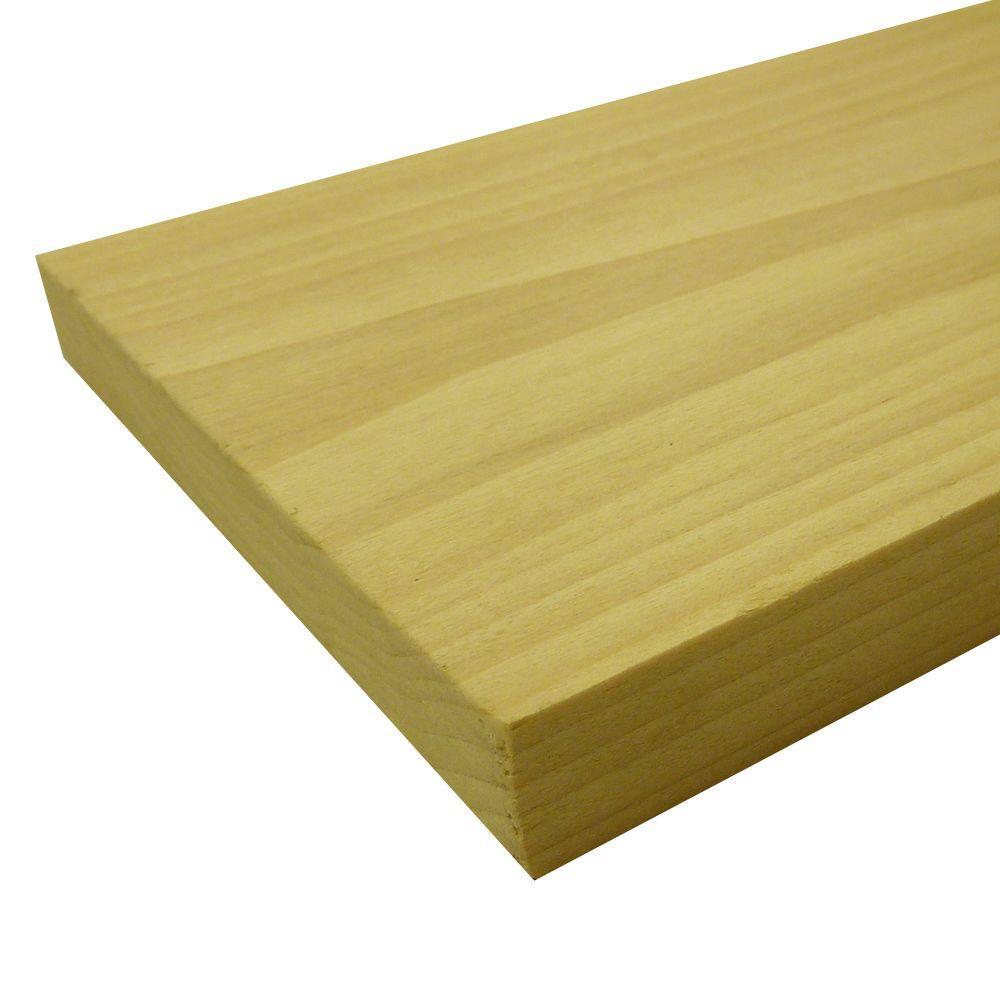 Poplar Board Common: 1 in. x 8 in. x R/L; Actual: 0.75 in. x 7.25 in. x R/L