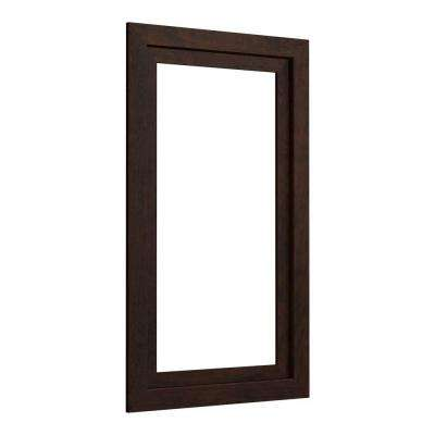 Poplin 20.5 in. Medicine Cabinet Surround in Claret Suede