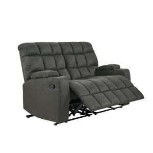 Incredible Prolounger 2 Seat Gray Microfiber Wall Hugger Storage Unemploymentrelief Wooden Chair Designs For Living Room Unemploymentrelieforg