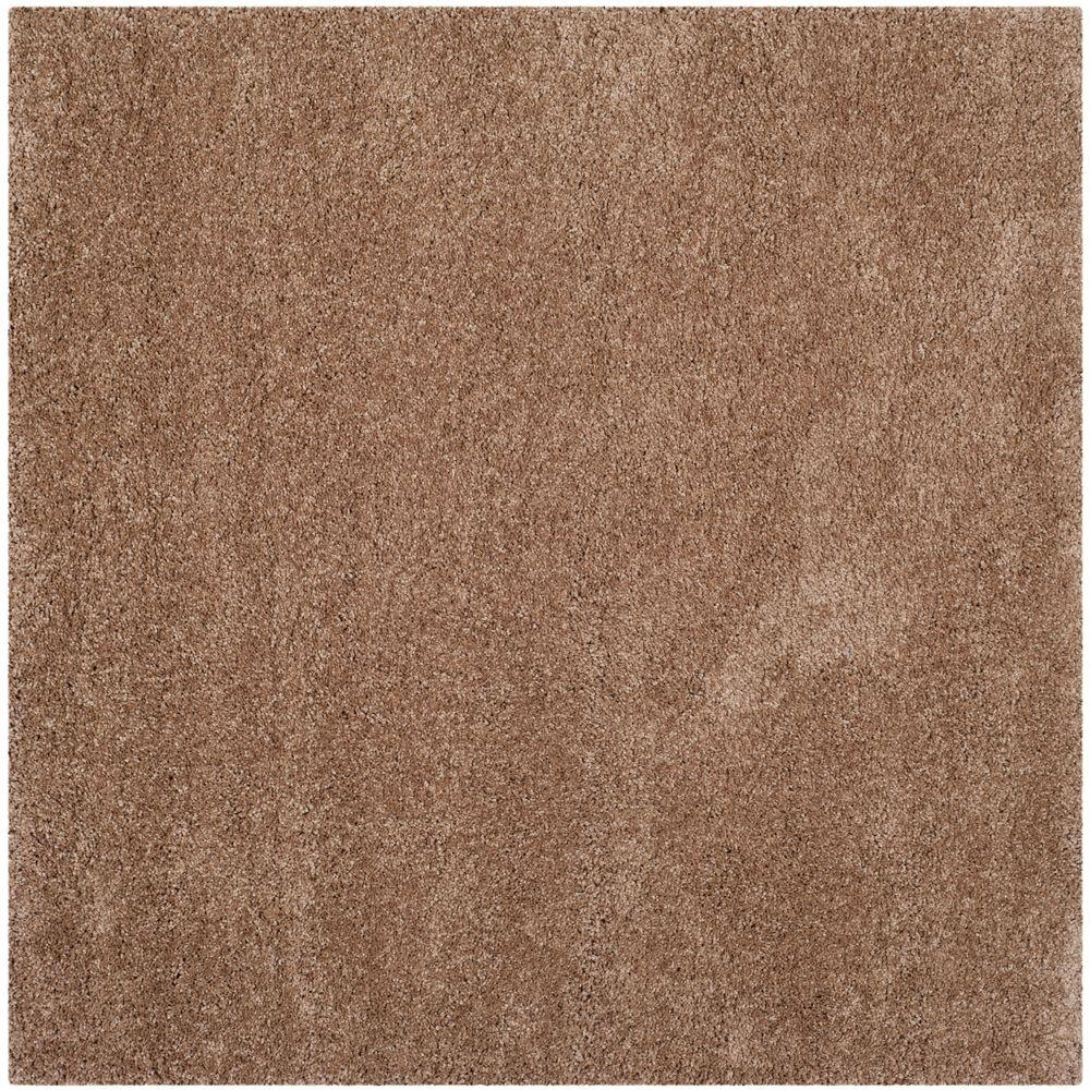 Safavieh Milan Shag Dark Beige 7 Ft X Square Area Rug