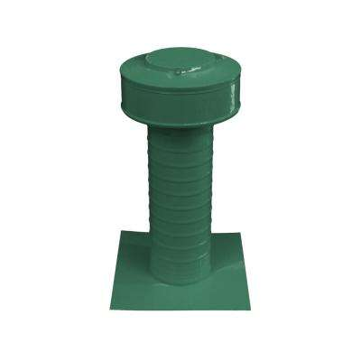 Keepa Vent 4 in. Dia Aluminum Roof Vent for Flat Roofs in Green