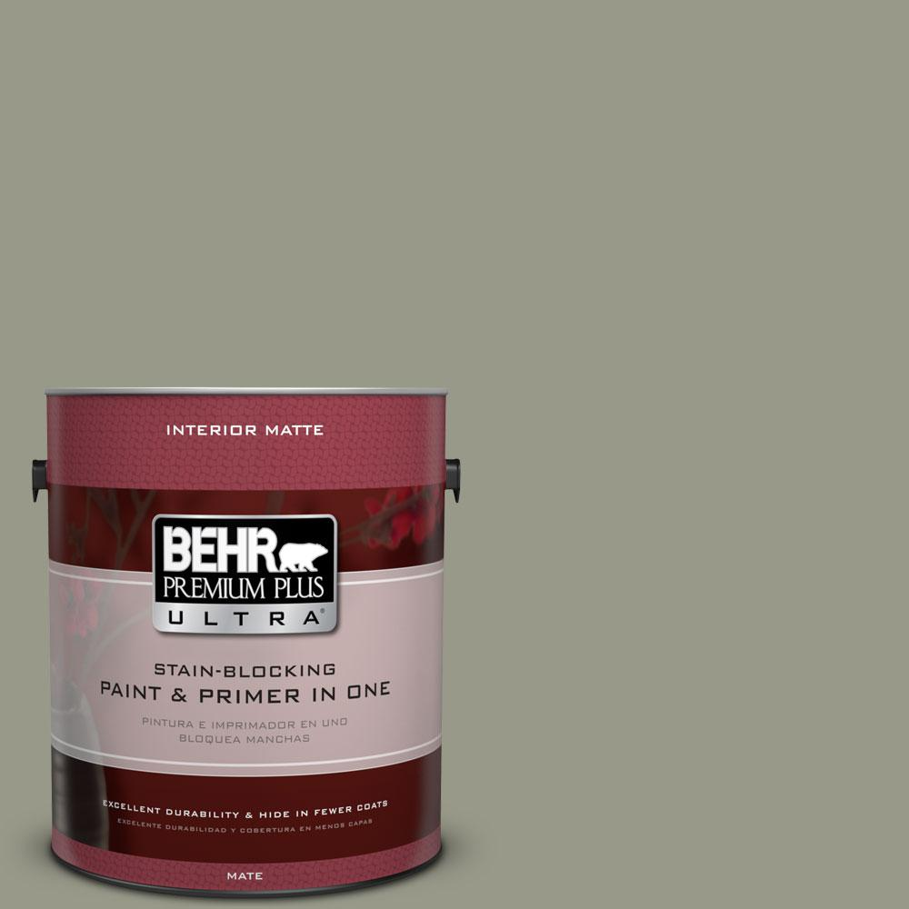 1 gal. #BNC-27 Aged Eucalyptus Matte Interior Paint and Primer in