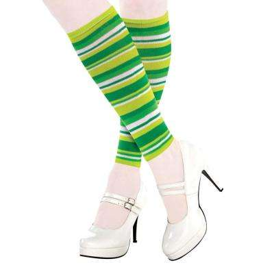 Green Striped St. Patrick's Day Adult Leg Warmers (2-Count, 3-Pack)