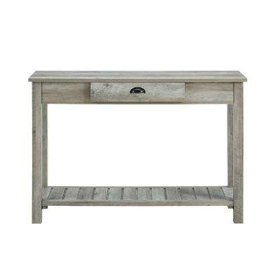 48 in. Country Style Entry Console Table in Gray Wash