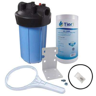 10 in. Big Polypropylene Whole House Water Filtration System with Pressure Release and Sediment Filter Kit