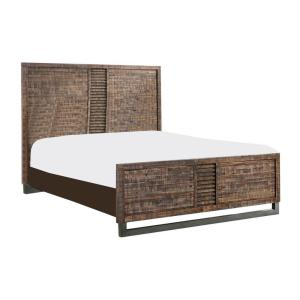Amelia Reclaimed Oak King Bed with Reclaimed Wood
