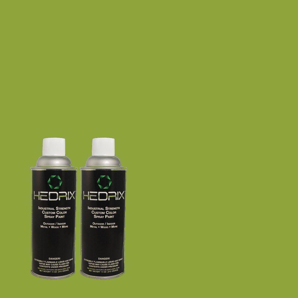 Hedrix 11 oz. Match of 420B-7 Pepper Grass Gloss Custom Spray Paint (2-Pack)