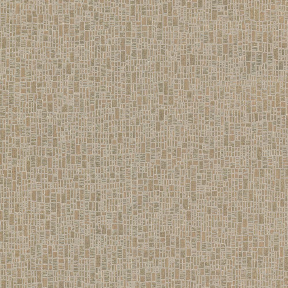 Brewster Cella Bronze Geometric Wallpaper