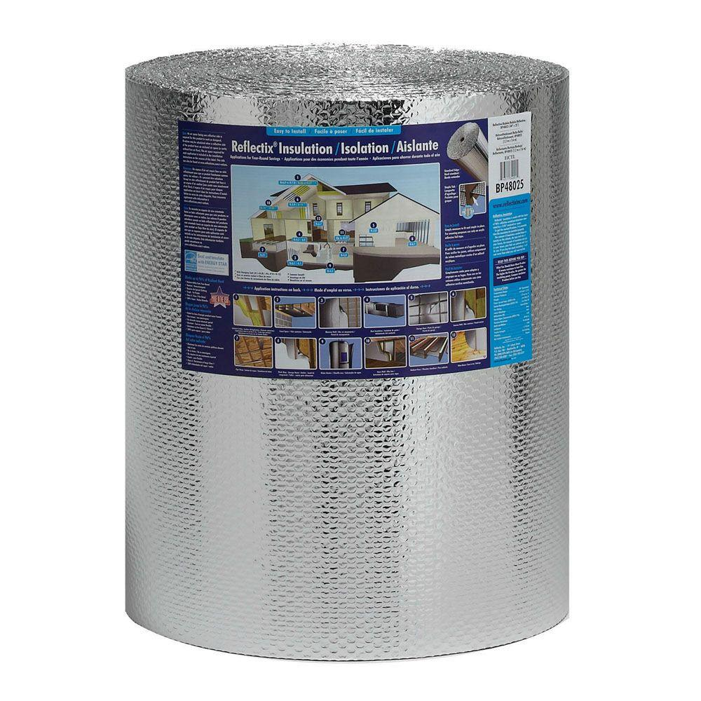 24 in. x 100 ft. Double Reflective Insulation Roll with Staple