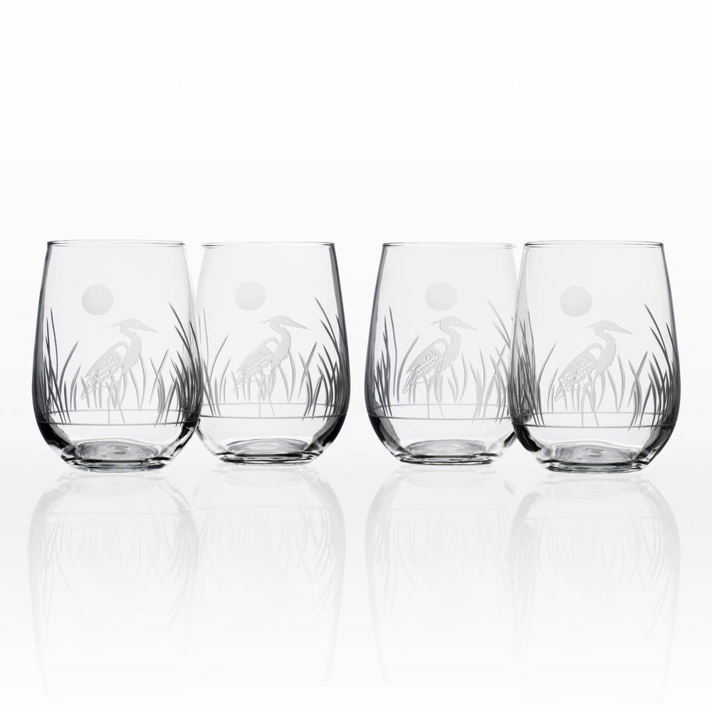 Heron 17 oz. Stemless Wine Glass (Set of 4)
