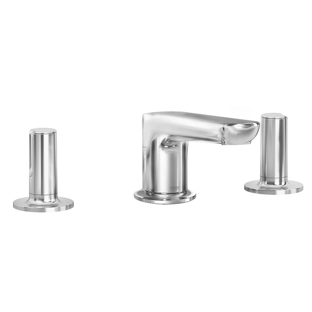 AMERICAN STANDARD Studio S 8 in. Widespread 2-Handle Low Spout Bathroom Faucet with Knob Handles in Polished Chrome