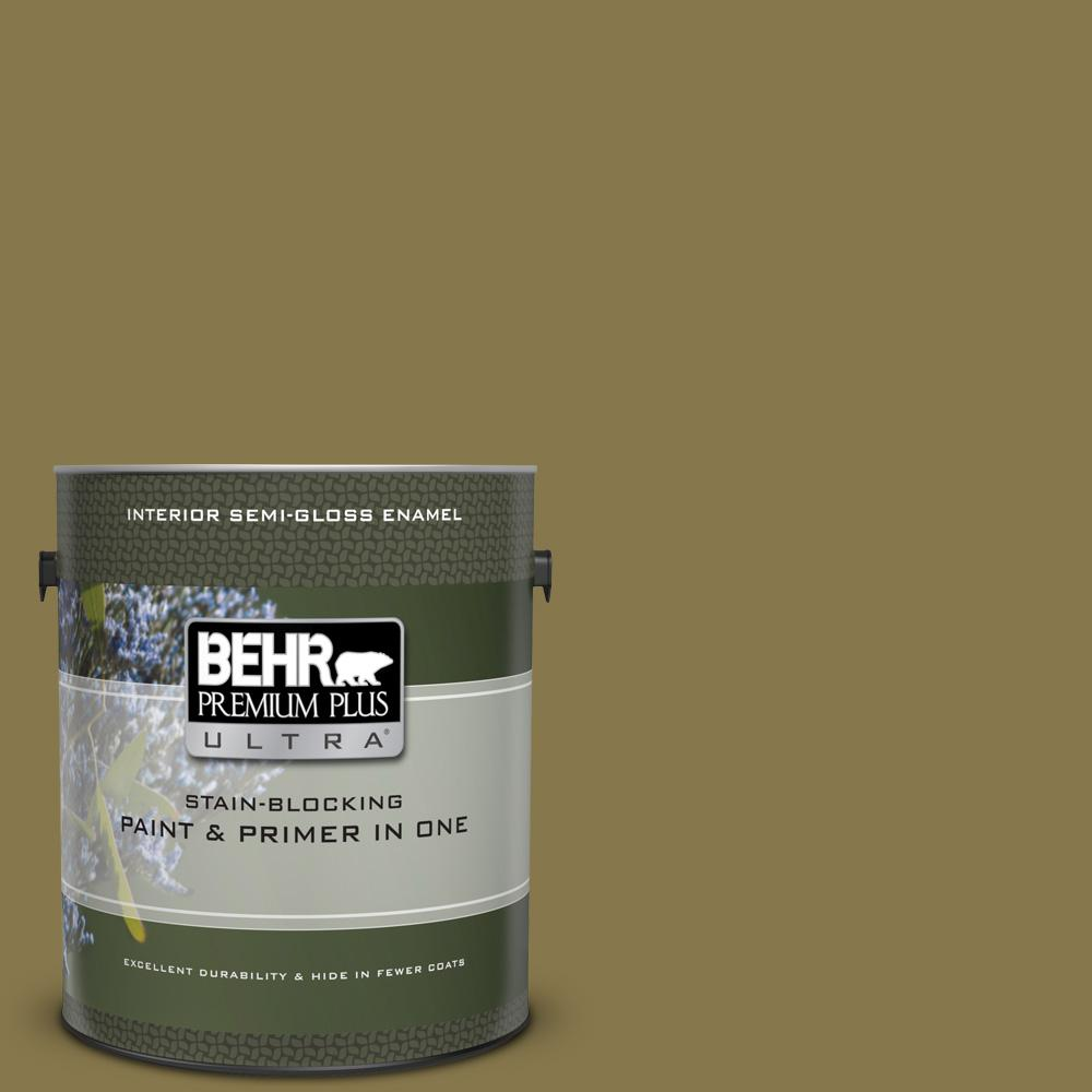 Behr Premium Plus Ultra 1 Gal M330 7 Green Tea Leaf Semi