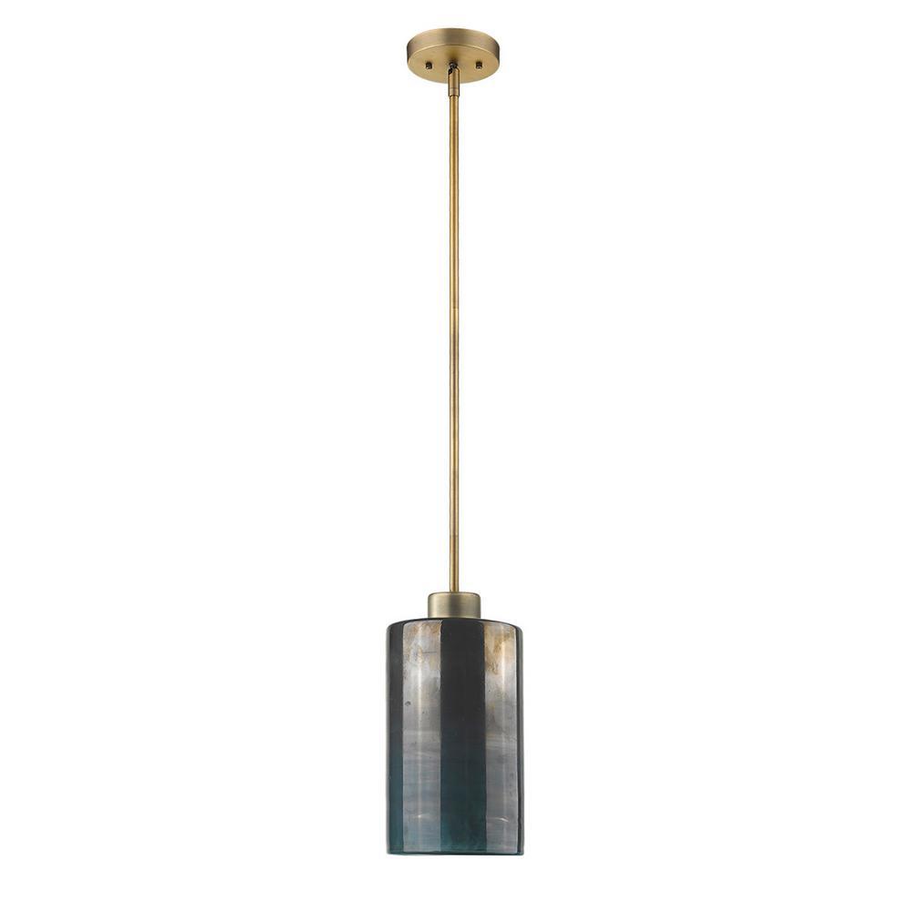 Monet 1-Light Brass Pendant