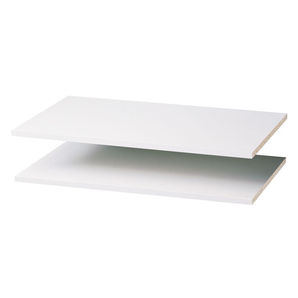 Martha Stewart Living 35 in. Classic White Shelf (2-Pack)