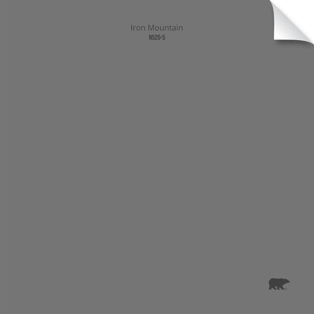 BEHR 6-1/2 in. x 6-1/2 in. #N520-5 Iron Mountain Matte Interior Peel and Stick Paint Color Sample Swatch