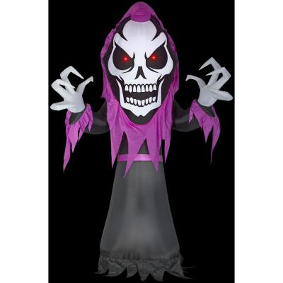 10 ft. H Skeleton Reaper with Red LED Eyes-Giant Halloween Inflatable