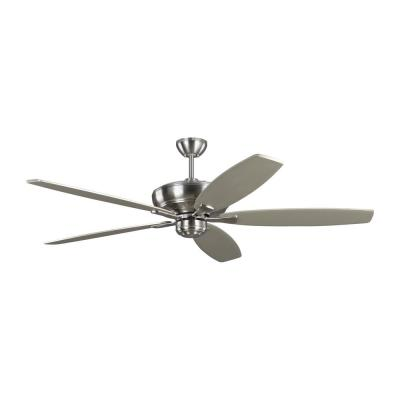 Dover 60 in. Indoor Brushed Steel Ceiling Fan with Reversible Blades and 6-Speed Remote Control