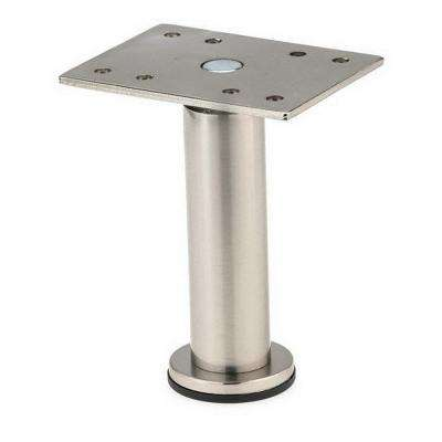 3-15/16 in. Satin Nickel Zinc Round Leg
