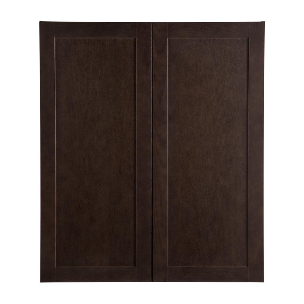 Cambridge Pantry Cabinets In Dusk: Hampton Bay Cambridge Assembled 36x42x12 In. Wall Cabinet