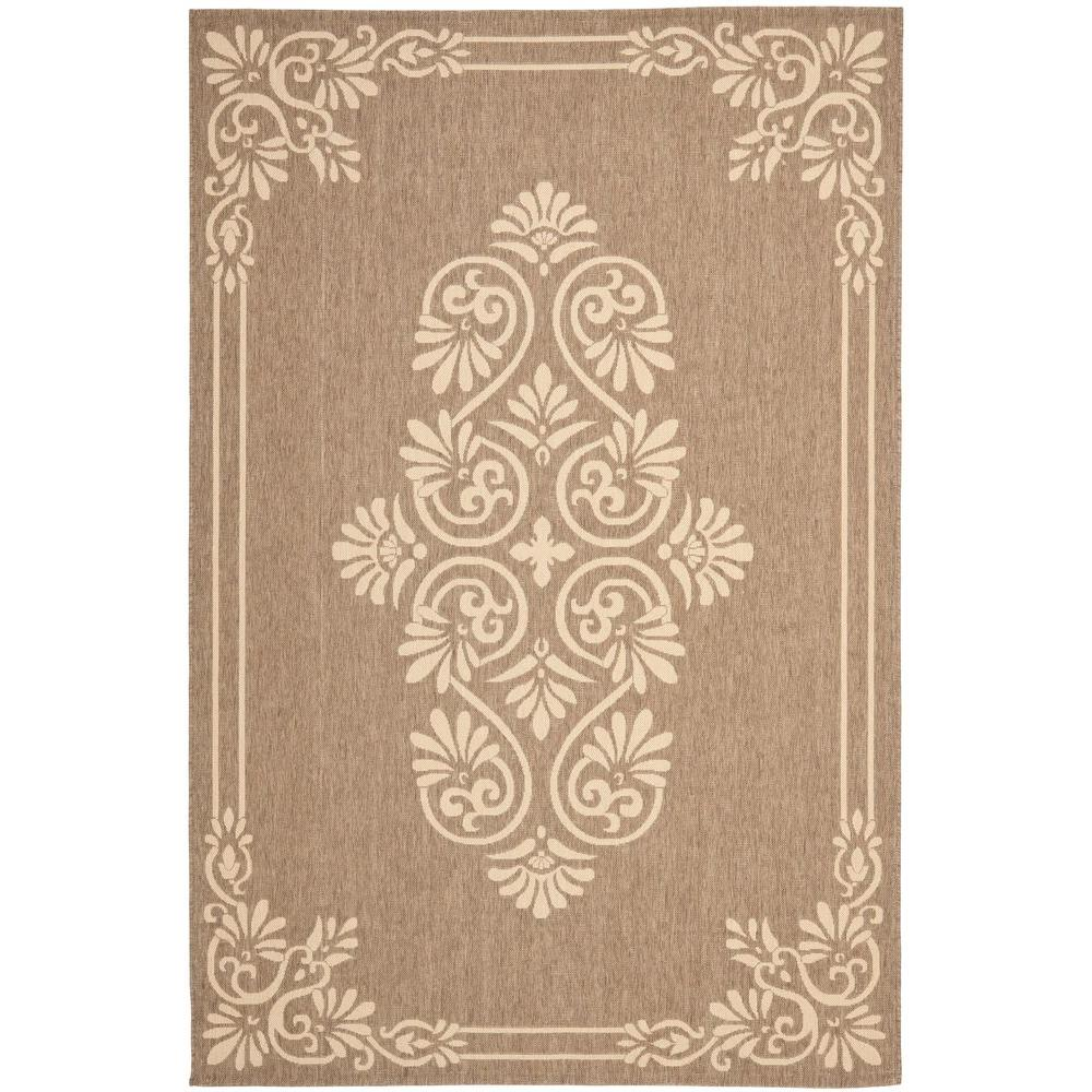 Outdoor Rug 7 X 10: Safavieh Courtyard Brown/Cream 7 Ft. 10 In. X 10 Ft