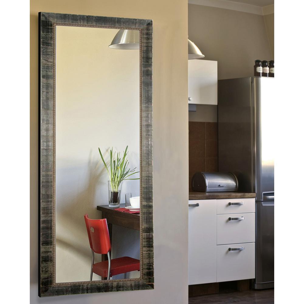 25 in. x 63 in. Vanity Tuscan Ebony Non Beveled Full Body Mirror