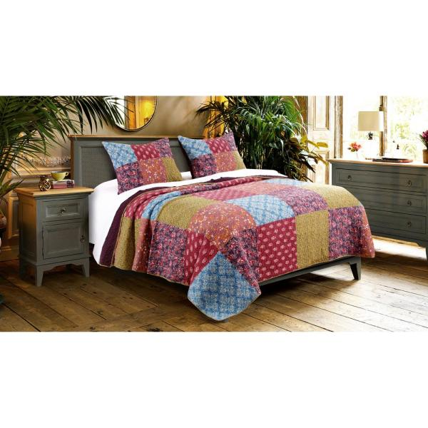 Barefoot Bungalow Normandy Quilt Set, 3-Piece King GL-1807BMSK