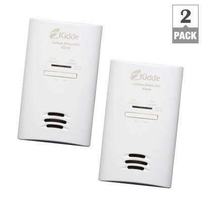 Plug-In Carbon Monoxide Detector with AA Battery Backup (2-pack)