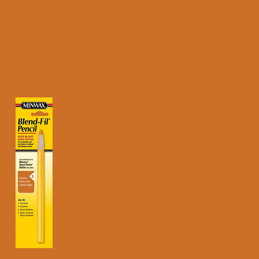Minwax #5 Blend-Fil Pencil for Orange Stained Wood