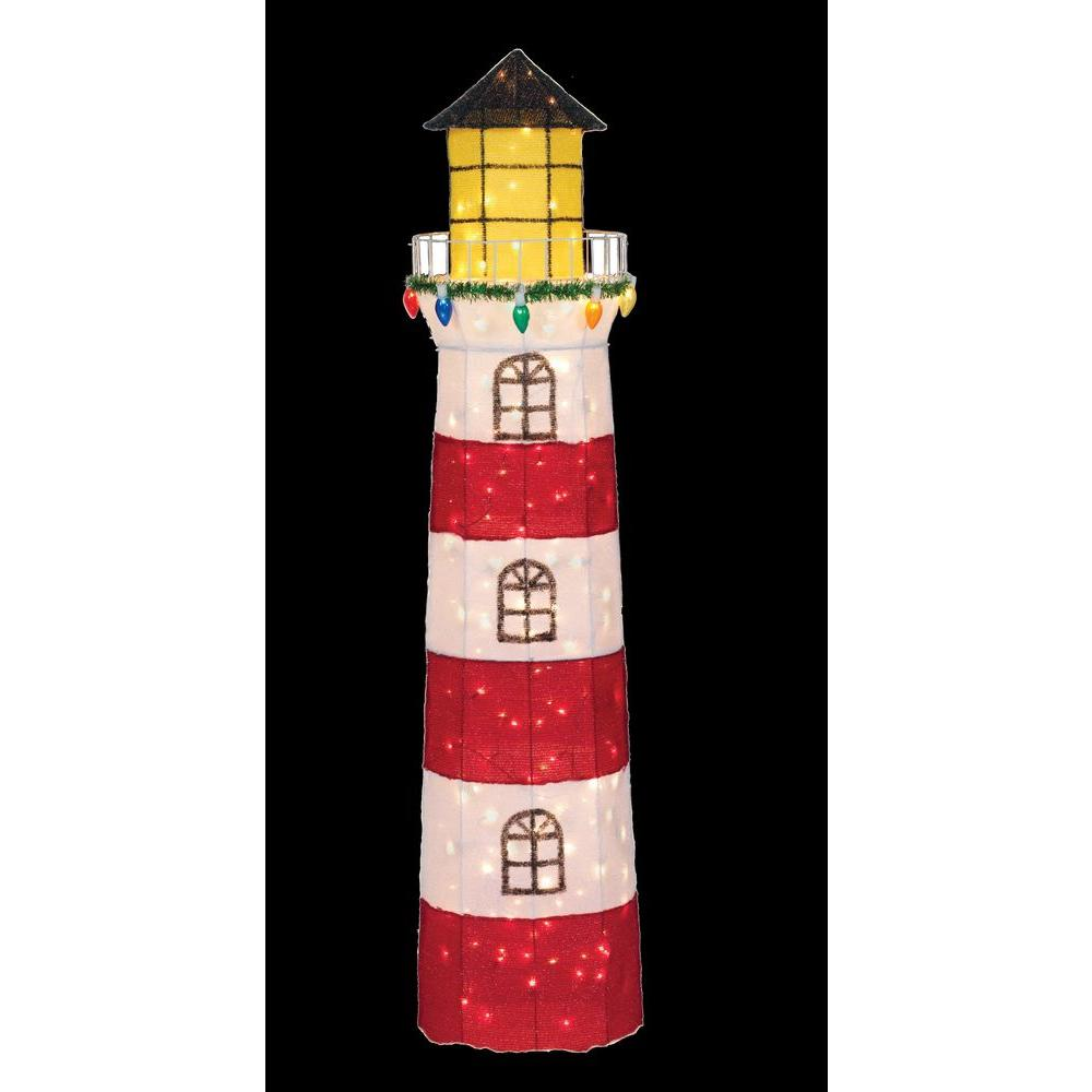 Home Accents Holiday 72 in. Lighthouse with 200 Lights