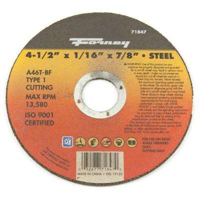4-1/2 in. x 1/16 in. x 7/8 in. Metal Type 1 Cut-Off Wheel