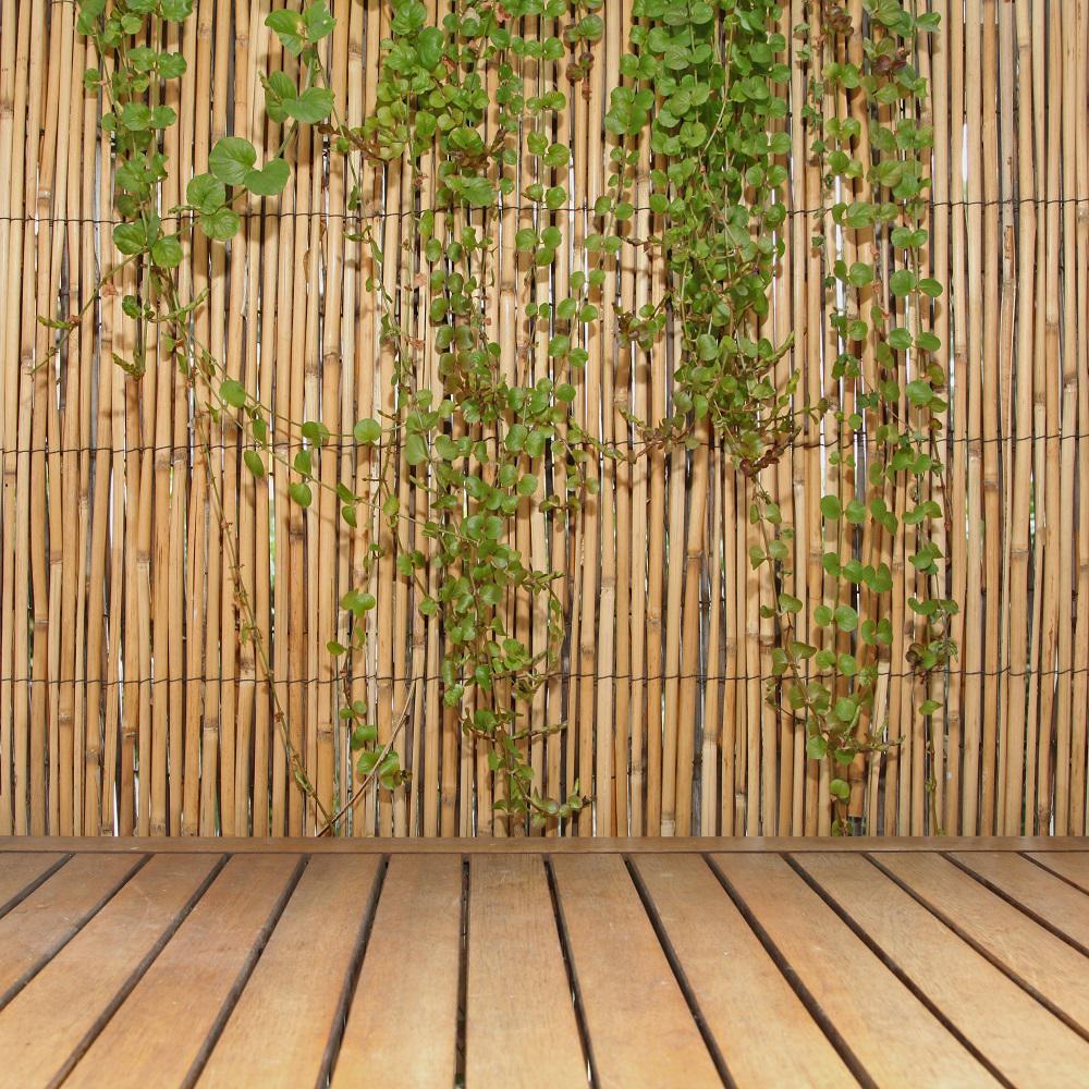 Backyard X-Scapes. 6 ft. H x 16 ft. L Natural Jumbo Reed Bamboo Fencing - Backyard X-Scapes 6 Ft. H X 16 Ft. L Natural Jumbo Reed Bamboo