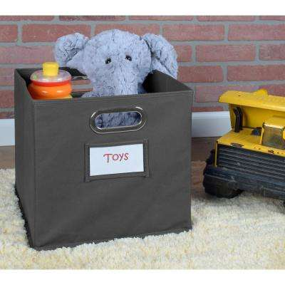 Cubo 12 in. x 12 in. Grey Foldable Fabric Bin