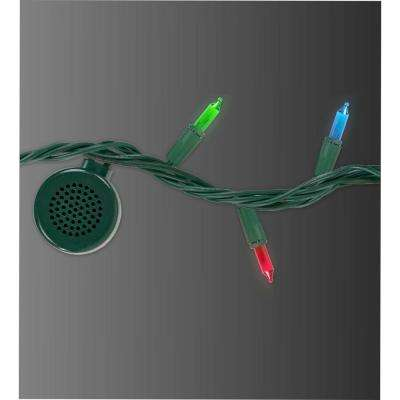 80-Light Multi-Colored Light Strand with 4 Bluetooth Speakers