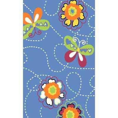 Night Flash Collection Multi Colored 3 ft. 3 in. x 4 ft. 10 in. Area Rug