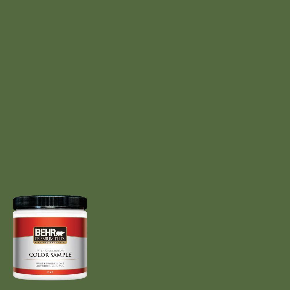 BEHR Premium Plus 8 oz. #M380-7 Alfalfa Extract Interior/Exterior Paint Sample