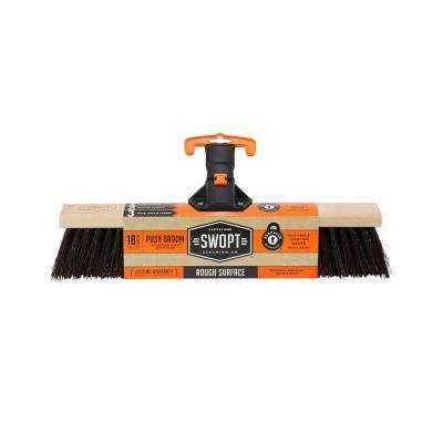 18 in. Premium Rough Surface Push Broom Head