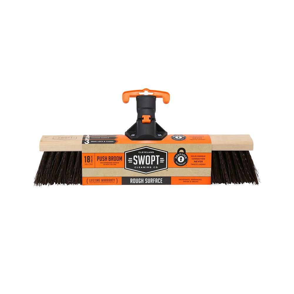 18 in. Premium Rough Surface Push Broom Head