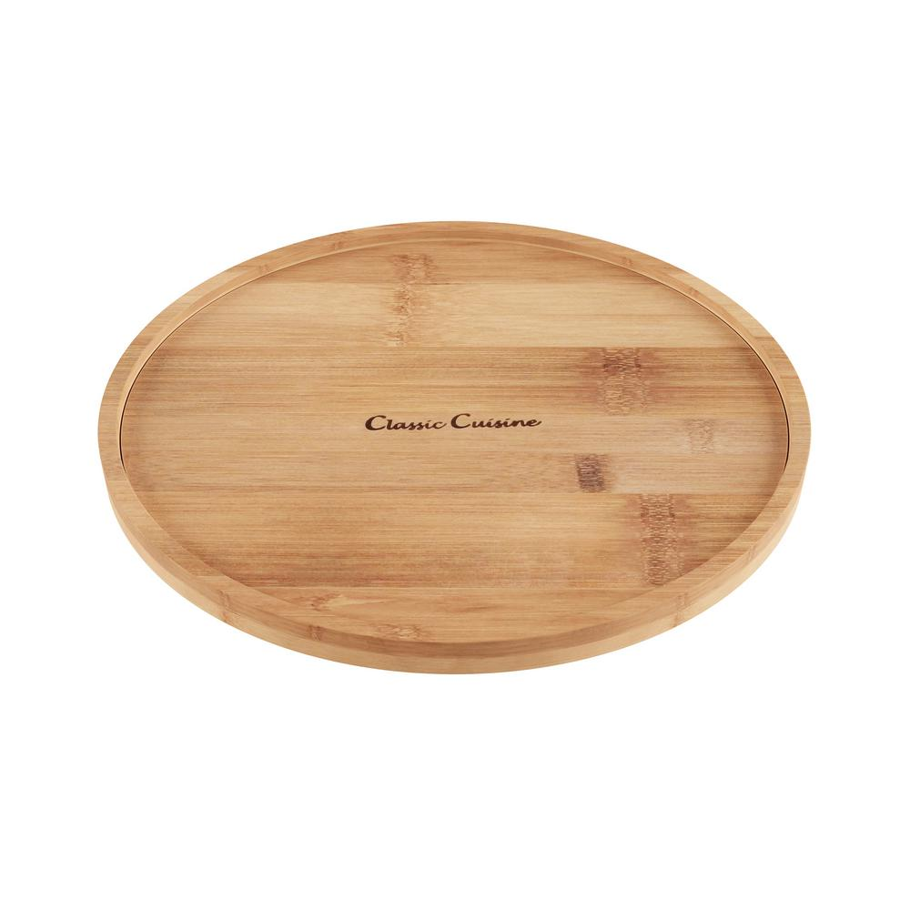 Classic Cuisine 10 in. Bamboo Lazy Susan Turntable