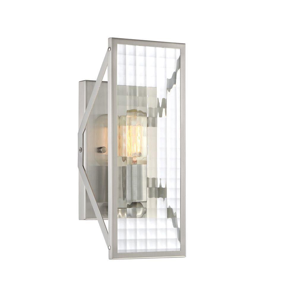 Pivot 1-Light Satin Platinum Interior Wall Sconce