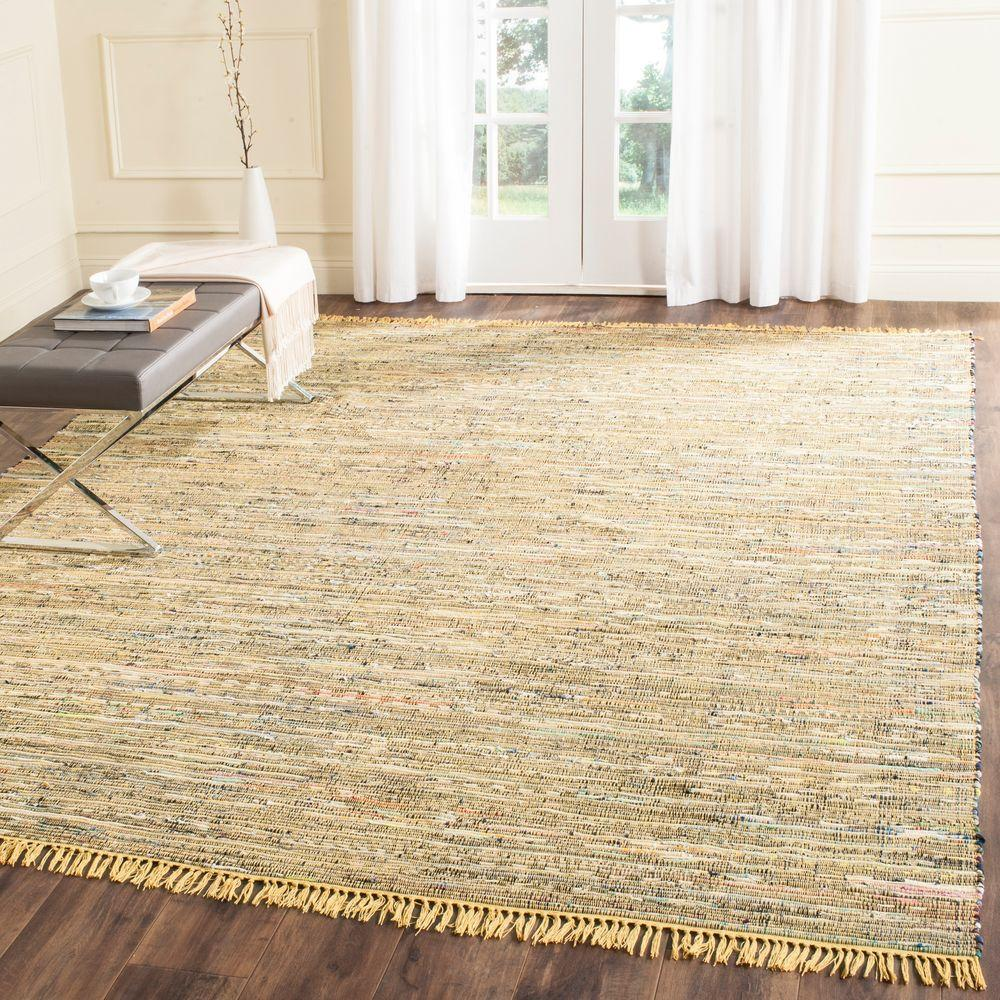 Safavieh Rag Rug Yellow Multi 10 Ft X 14 Ft Area Rug