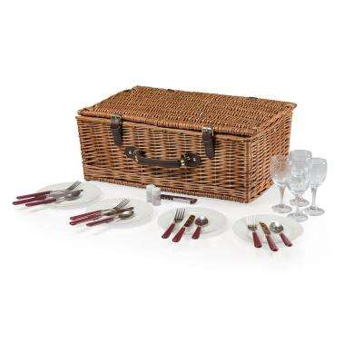 Newbury Wood Navy & Maroon Picnic Basket