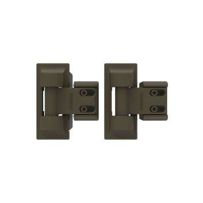3.4 in. x 8 in. Steel Light Bronze Standard Wrap Hinge (2-Pack)