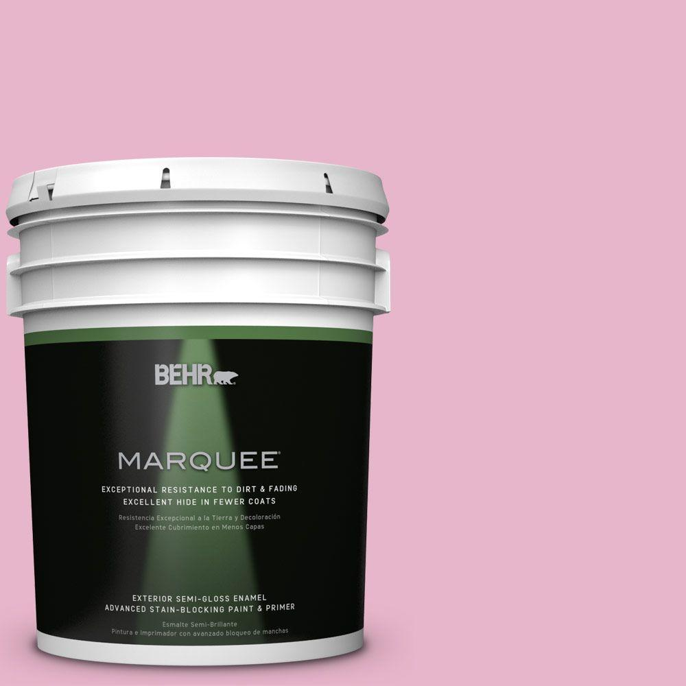 5 gal. #HDC-SP16-10 Japanese Rose Garden Semi-Gloss Enamel Exterior Paint